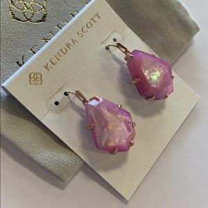 Rosenell earrings rose gold lilac mother of pearl